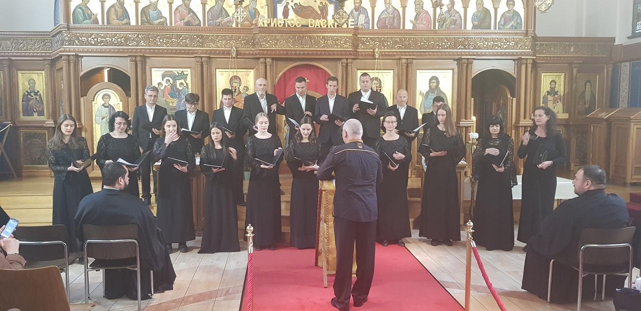 Хор Саборне Цркве Светог Георгија Победоносца из Новог Сада у посети нашем храму и граду Цириху.
