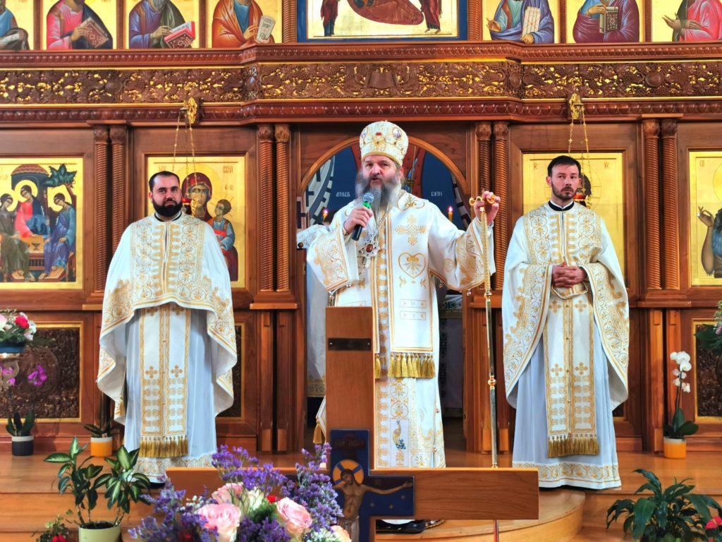 АРХИЈЕРЕЈСКА ЛИТУРГИЈА У ХРАМУ СВЕТЕ ТРОЈИЦЕ У ЦИРИХУ